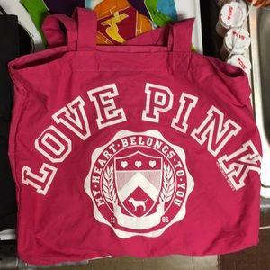 Pink Victoria Secrets Pink Tote Bag